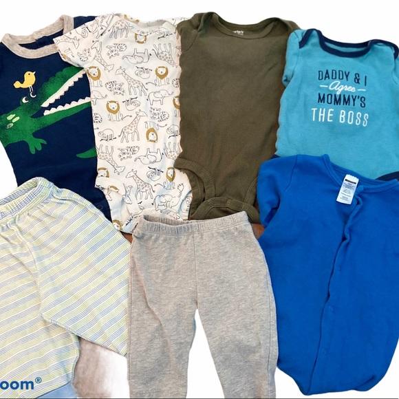 3-6 Month Baby Boys Bodysuit/Pants/Sleeper Bundle